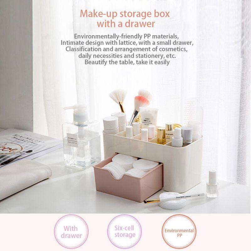 mini bureau maquillage boite de rangement cosmetique caisse rouge a levres j7n7 ebay. Black Bedroom Furniture Sets. Home Design Ideas