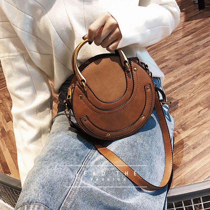 Sac-a-main-en-cuir-PU-givre-rond-pour-femmes-Sac-a-main-retro-Circulaire-Mini-G3 miniature 3
