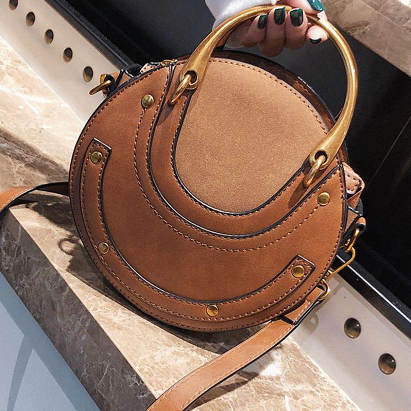 Sac-a-main-en-cuir-PU-givre-rond-pour-femmes-Sac-a-main-retro-Circulaire-Mini-G3 miniature 6