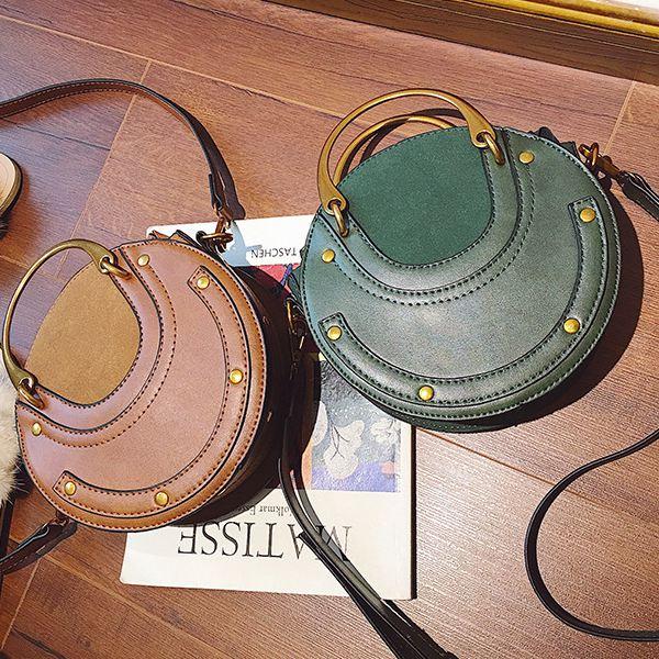 Sac-a-main-en-cuir-PU-givre-rond-pour-femmes-Sac-a-main-retro-Circulaire-Mini-G3 miniature 9