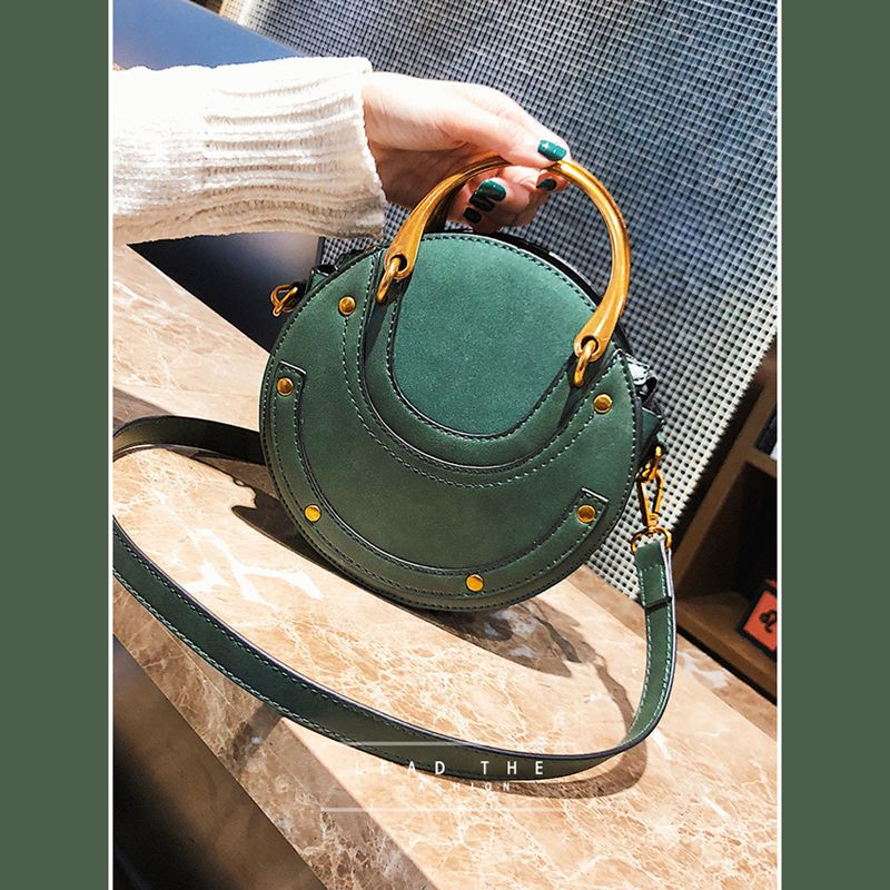 Sac-a-main-en-cuir-PU-givre-rond-pour-femmes-Sac-a-main-retro-Circulaire-Mini-G3 miniature 11