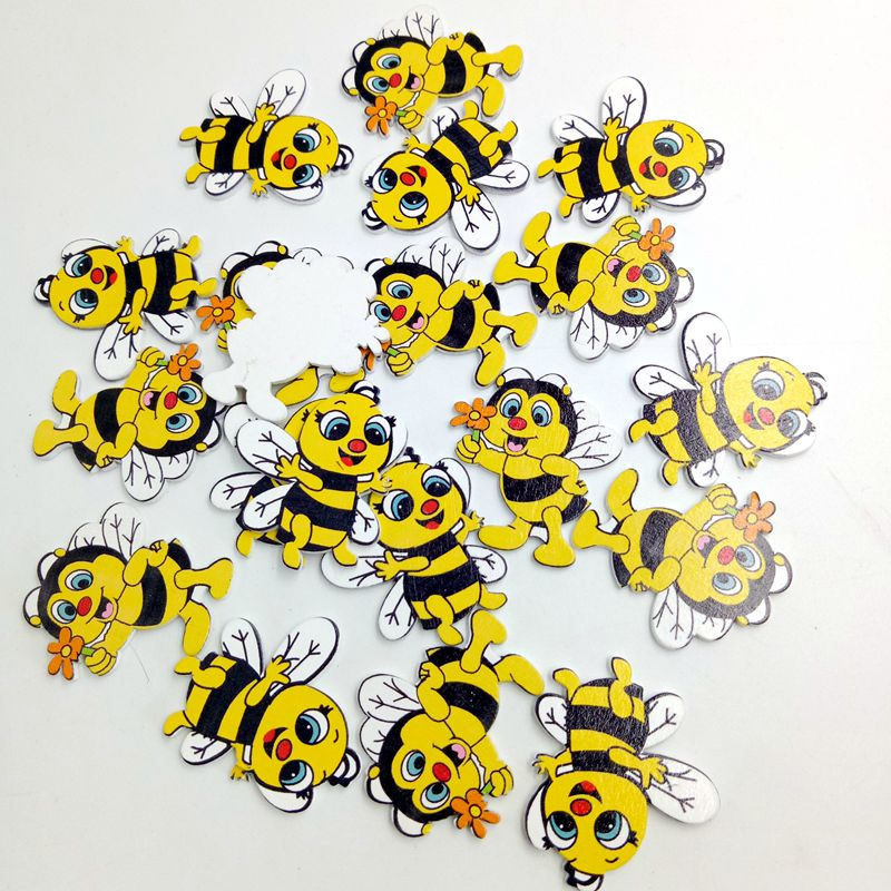 20-Pieces-Wood-Shapes-Bee-Embellishments-for-Scrapbooking-Crafts-Decorativ-K7E7