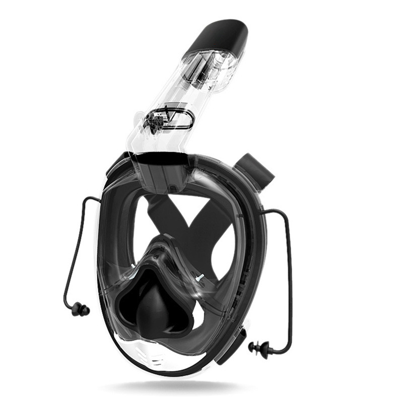 2X(Diving Mask Full Face Scuba Diving Mask One-piece Gasbag Snorkeling Swim R7T4
