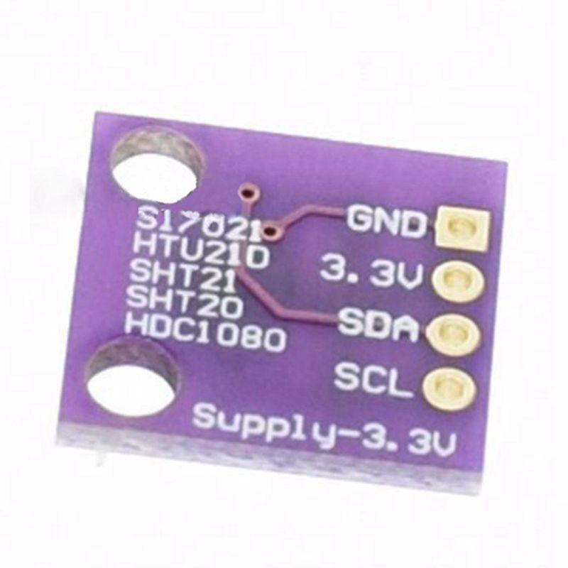 SODIAL Temperature/&Humidity Sensor GY-213V-HTU21D I2C Replace SHT21 SI7021 HDC1080