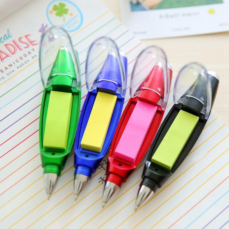 1X-Kunststoff-Kugelschreiber-kreative-Kugelschreiber-mit-Notizblock-Licht-LP1P7 Indexbild 8