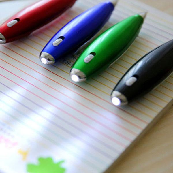 1X-Kunststoff-Kugelschreiber-kreative-Kugelschreiber-mit-Notizblock-Licht-LP1P7 Indexbild 9