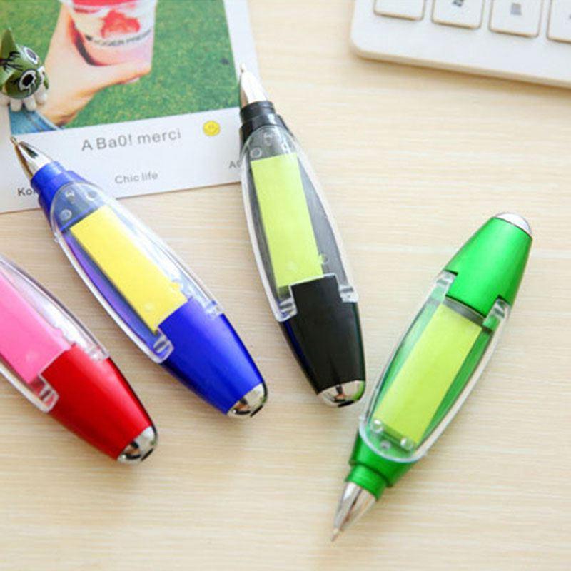 1X-Kunststoff-Kugelschreiber-kreative-Kugelschreiber-mit-Notizblock-Licht-LP1P7 Indexbild 14