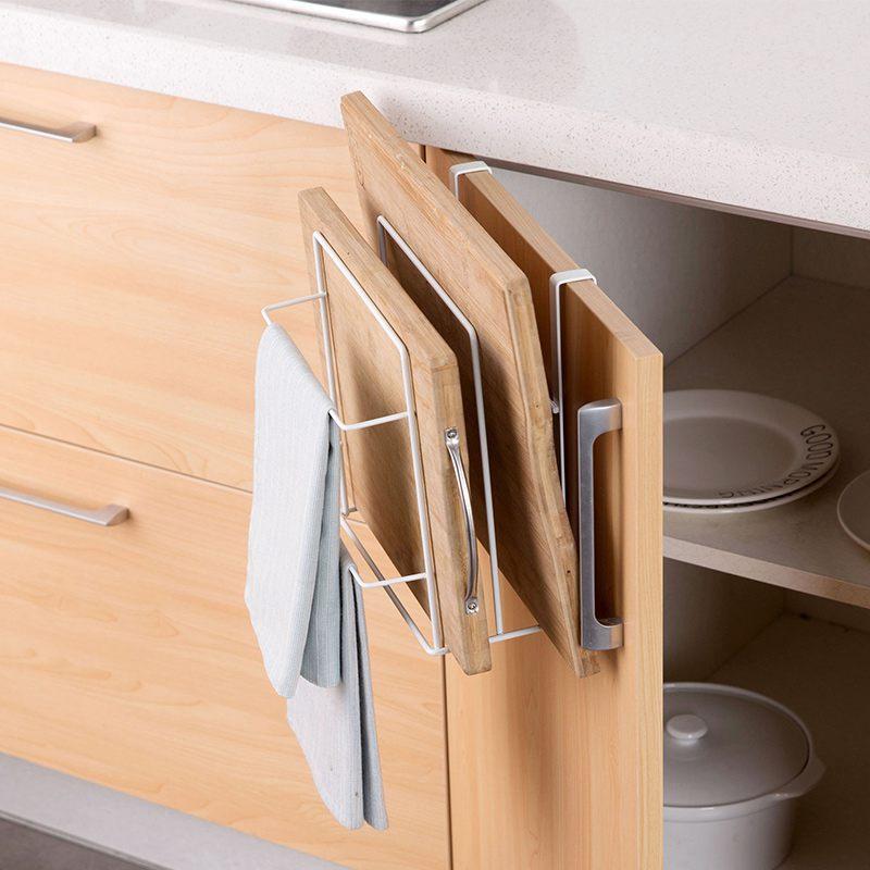 Armarios-de-cocina-de-hierro-de-doble-capa-Estante-de-la-tajadera-Estantes-A1M8 miniatura 5