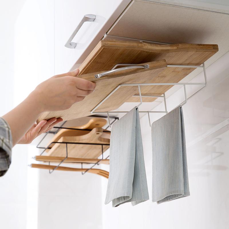 Armarios-de-cocina-de-hierro-de-doble-capa-Estante-de-la-tajadera-Estantes-A1M8 miniatura 6