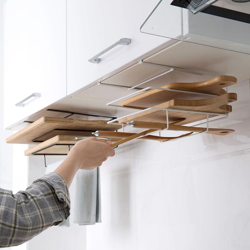 Armarios-de-cocina-de-hierro-de-doble-capa-Estante-de-la-tajadera-Estantes-A1M8 miniatura 7