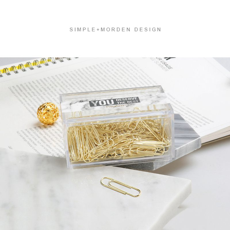 2X-NEVER-70pcs-2-inch-Gold-Paper-Clips-Iron-Wire-U-Type-Paper-Clip-in-ReusaG2Y3 thumbnail 3
