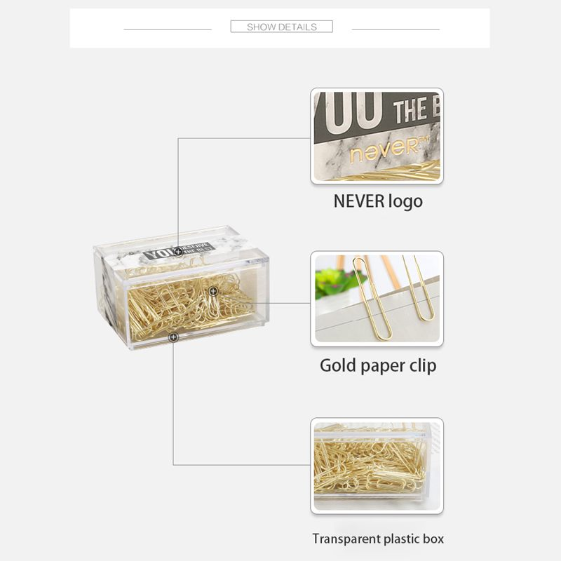 2X-NEVER-70pcs-2-inch-Gold-Paper-Clips-Iron-Wire-U-Type-Paper-Clip-in-ReusaG2Y3 thumbnail 4