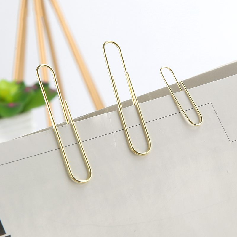 2X-NEVER-70pcs-2-inch-Gold-Paper-Clips-Iron-Wire-U-Type-Paper-Clip-in-ReusaG2Y3 thumbnail 6