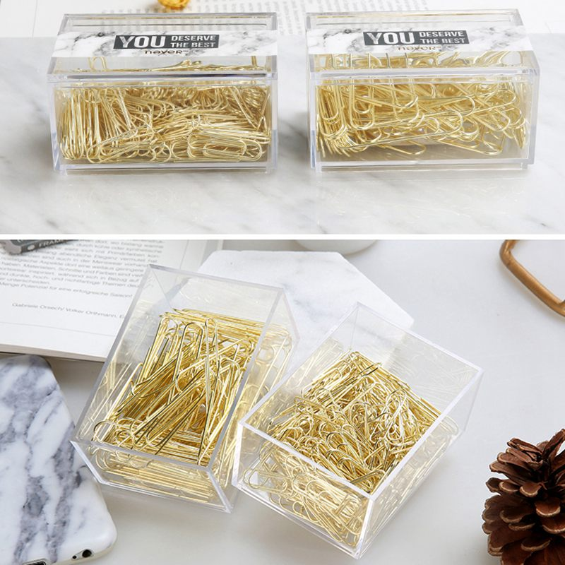 2X-NEVER-70pcs-2-inch-Gold-Paper-Clips-Iron-Wire-U-Type-Paper-Clip-in-ReusaG2Y3 thumbnail 7