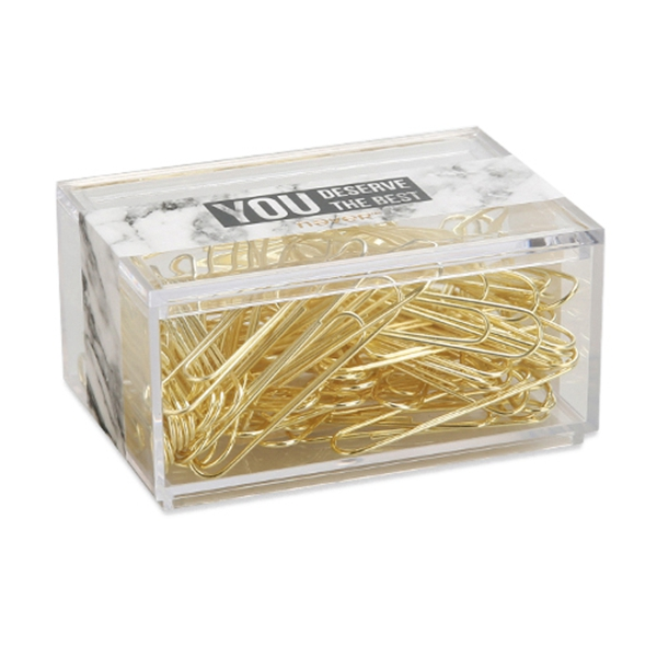 2X-NEVER-70pcs-2-inch-Gold-Paper-Clips-Iron-Wire-U-Type-Paper-Clip-in-ReusaG2Y3