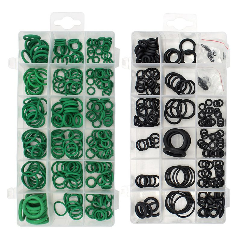 5X(495PCS 36 Sizes O-ring Kit Black&Green Metric O ring Seals Rubber O rin L2C3)