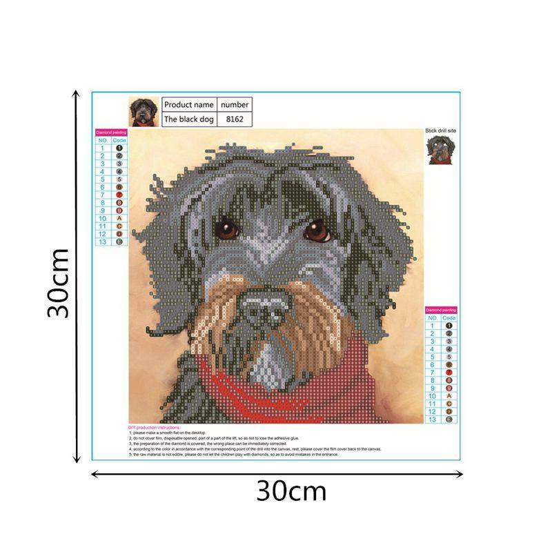 Home Decorat: DIY Dog Diamond Painting Kit 5D Full Of Diamond Painting