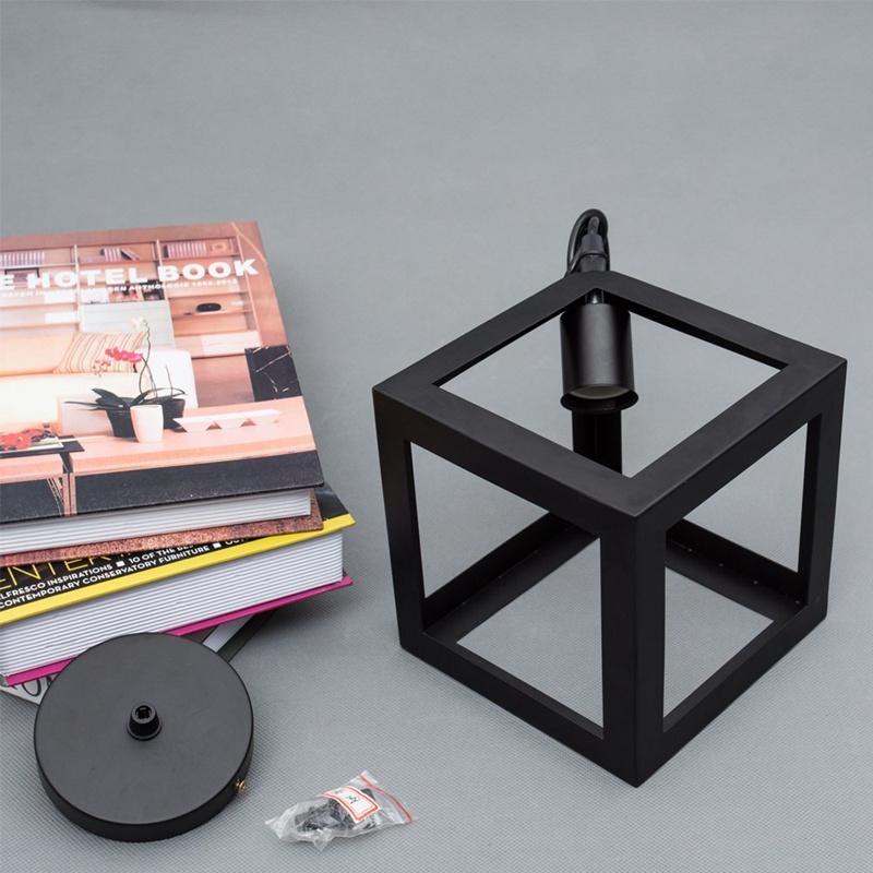 Eclairage-Plafond-Abat-jour-avec-un-support-de-suspension-Metal-industriel-SC miniature 2