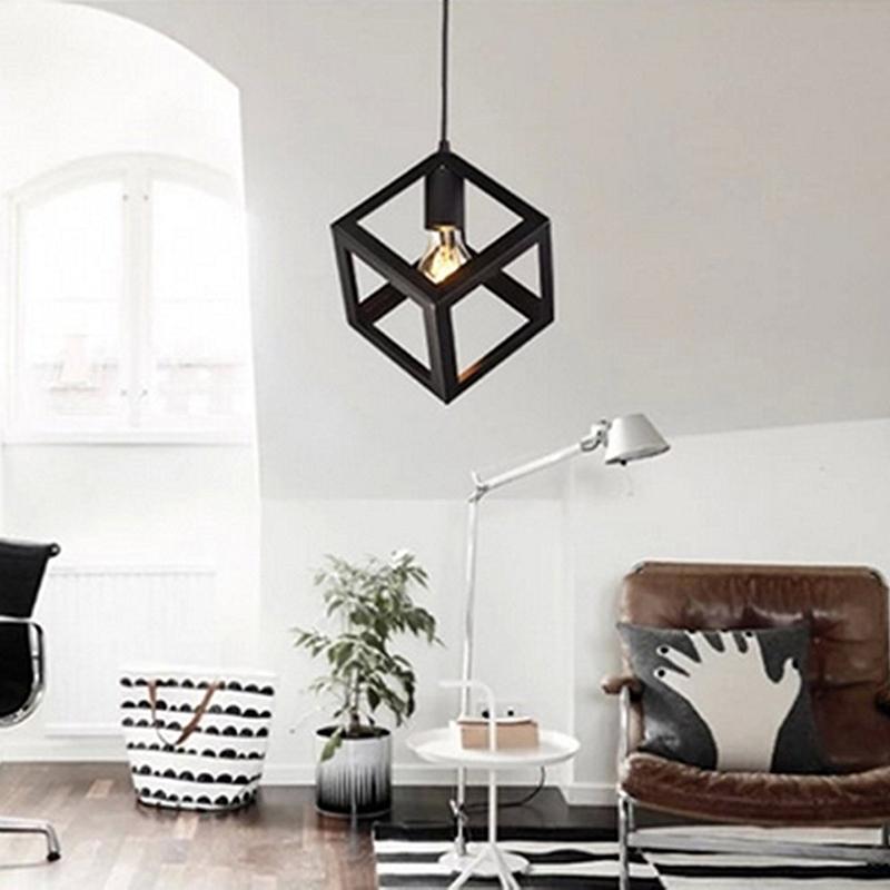 Eclairage-Plafond-Abat-jour-avec-un-support-de-suspension-Metal-industriel-SC miniature 3