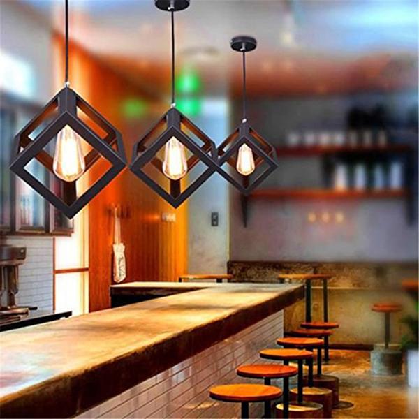 Eclairage-Plafond-Abat-jour-avec-un-support-de-suspension-Metal-industriel-SC miniature 4