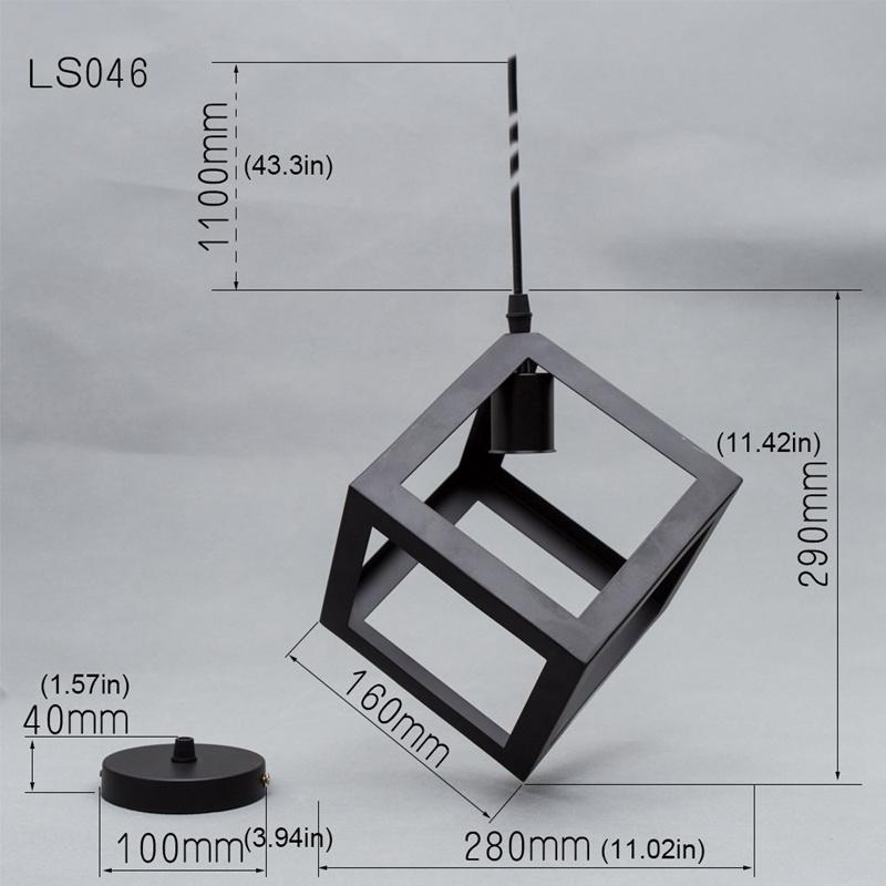 Eclairage-Plafond-Abat-jour-avec-un-support-de-suspension-Metal-industriel-SC miniature 5