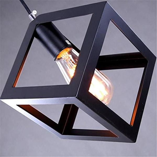 Eclairage-Plafond-Abat-jour-avec-un-support-de-suspension-Metal-industriel-SC miniature 6