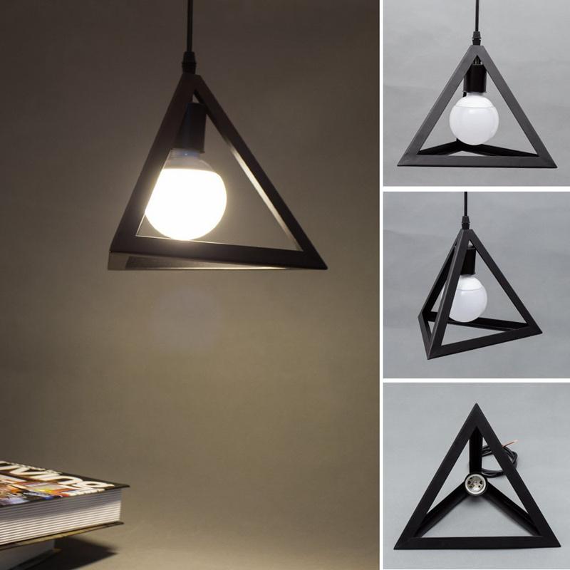 Triple-cornered Lighting Lamparas de techo y marco colgante ...