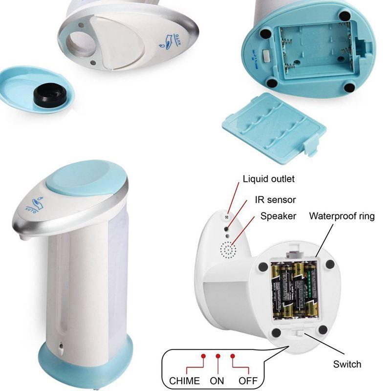 Detector-de-cuerpo-por-infrarrojos-Dispensador-de-jabon-automatico-Contenedor-ST