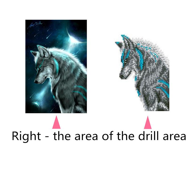 DIY-5D-Diamante-Bordado-Noche-Lobo-Pintura-Rhinestone-de-punto-de-Cruz-Decoracio