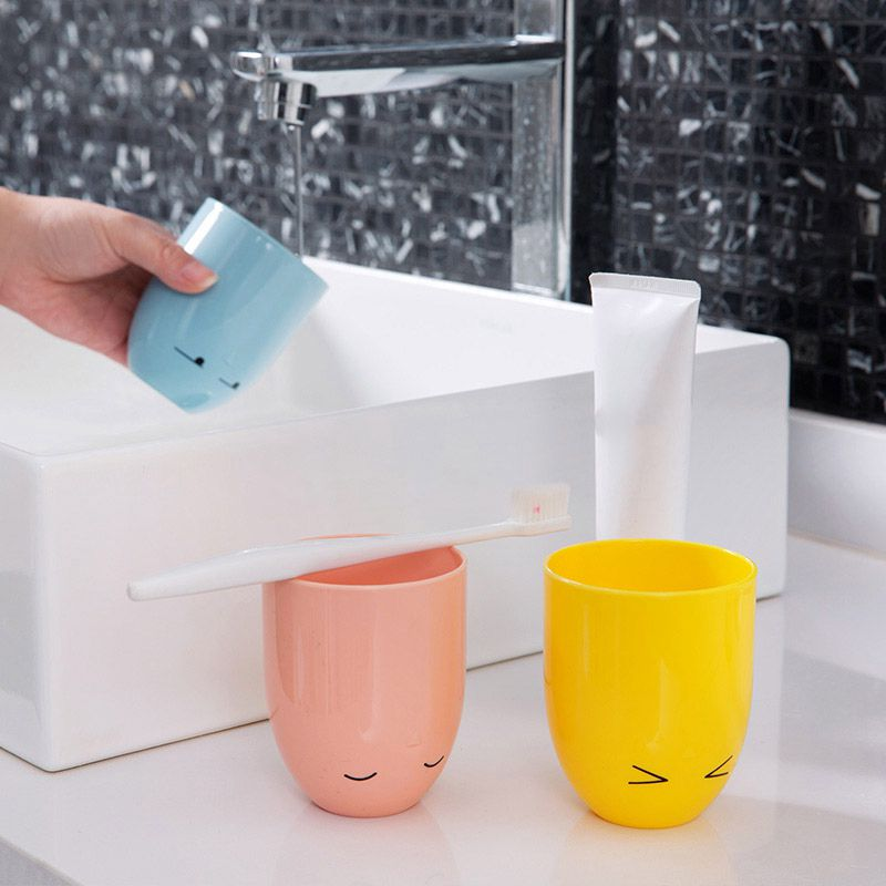 Cute Chicken Toothbrush Holder Rinse Cup Set Couple Brush Teeth Cup Wall ToY4F5