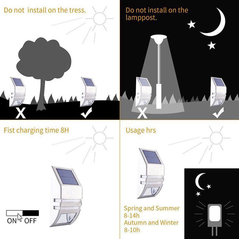 Lampara-solar-IP65-al-aire-libre-Impermeable-Garden-Path-Lampara-de-luz-Sol-R2D8 miniatura 11