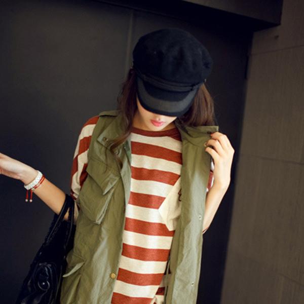 1X(Cappello Cappelli con visiera piatta per donna Cappellino nero donna  P8P9) a5c377d0eb7a