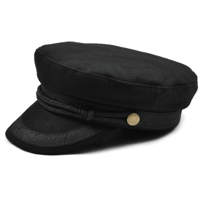 Hat Flat Top Hats for Women Black Female Cap Z5f5 1j  9c1215071