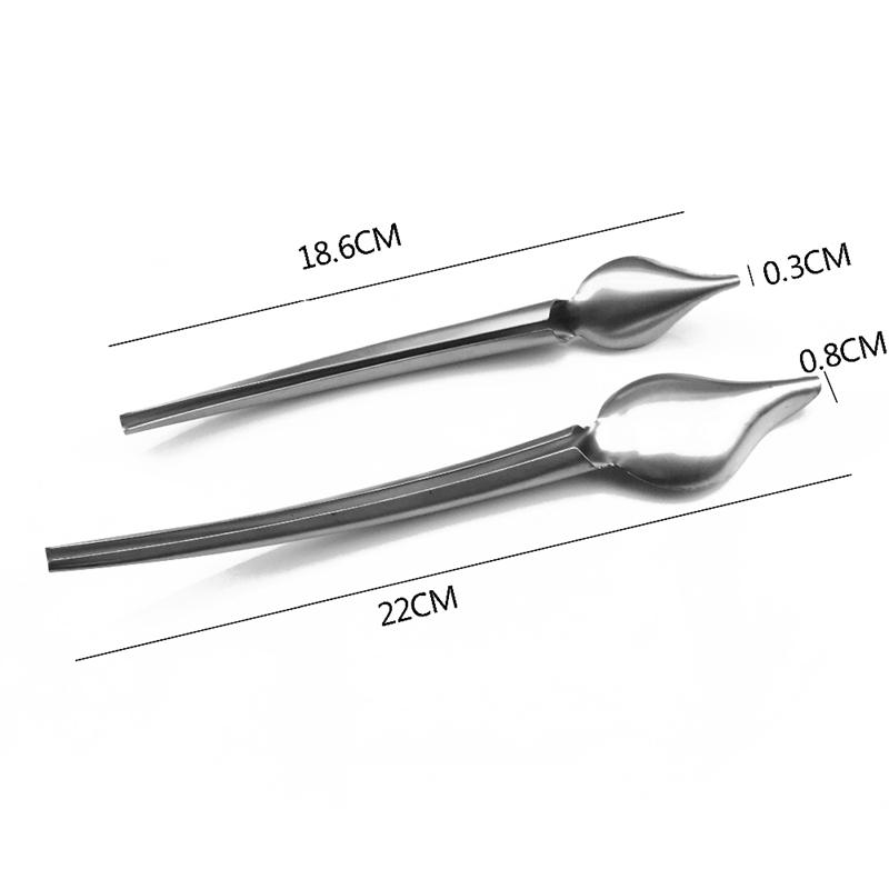 2X-DIY-Edelstahl-Schokolade-Loeffel-Bleistift-Loeffel-Kuchen-Dekorieren-BacU8O3 Indexbild 7