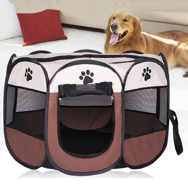 Portatil-Plegable-tienda-de-mascotas-Dog-House-Cage-Dog-Cat-Carpa-Playpen-P-F3M4 miniatura 7