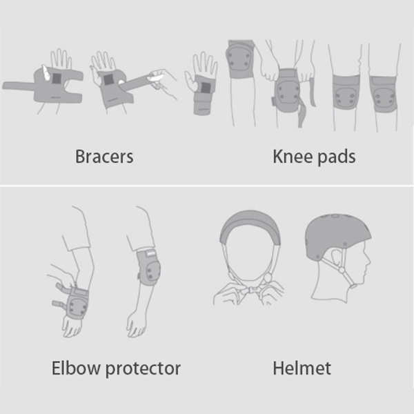6pcs-set-Skating-Cycling-Roller-Protective-Gear-Set-Knee-Pads-Elbow-pads-Sk-S7Y4