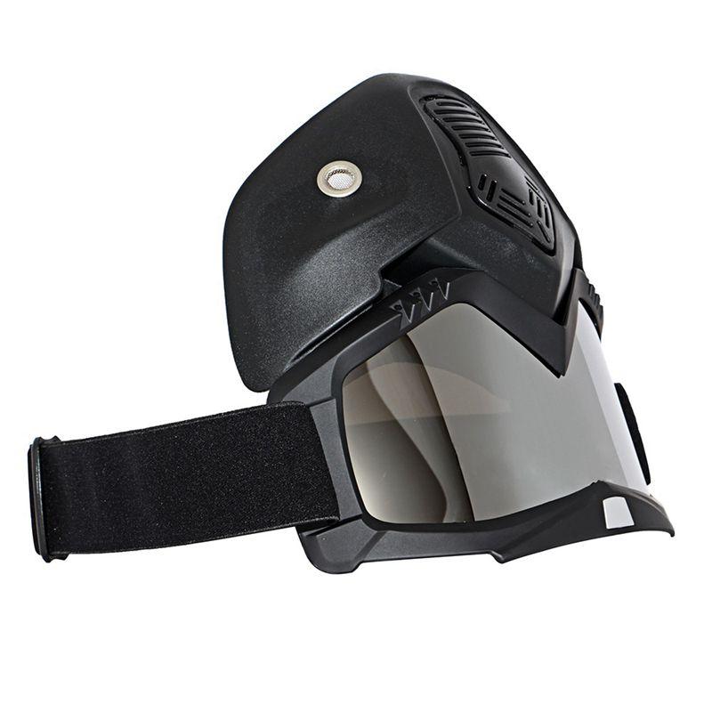 Course-d-039-autos-Modulaire-detachable-Casque-de-moto-Masque-de-protection-Boucl-58 miniature 7