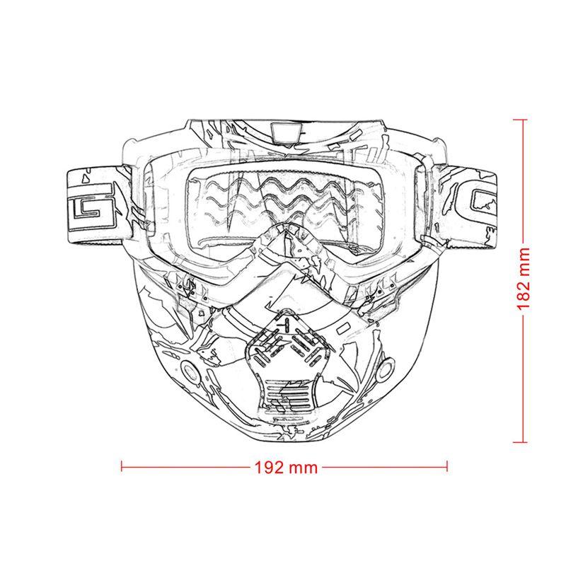 Course-d-039-autos-Modulaire-detachable-Casque-de-moto-Masque-de-protection-Boucl-58 miniature 9