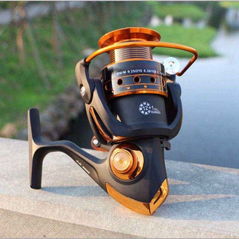 8X(YUMOSHI Spinning Spinning Spinning Fishing Reel 12BB + 1 Bearing Balls Metal Coil Spinning P6T7 d18a72