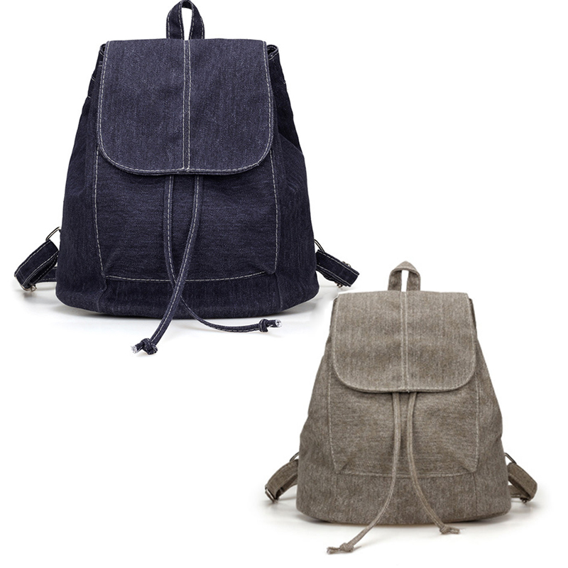 Details about New Canvas Women Backpack Drawstring School Bags For Teenagers  Girls Small B9E3 2fd3f6fa4b2b4