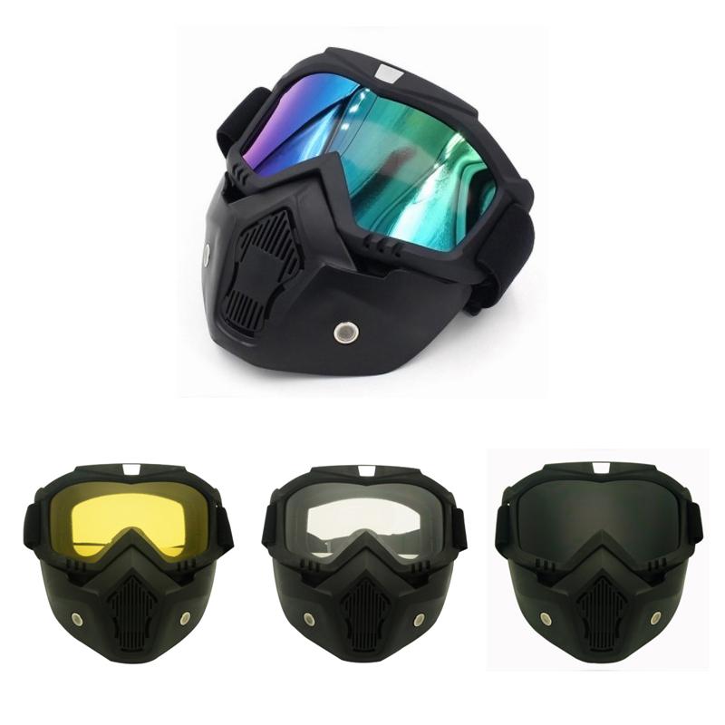 Racing abnehmbarer modularer Helm von Motorrad Gesichtsmaske Schild ...