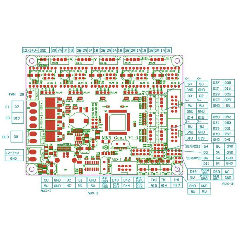mks gen l  MKS Gen L V1.0 controller PCB board integrated mainboard compatible ...