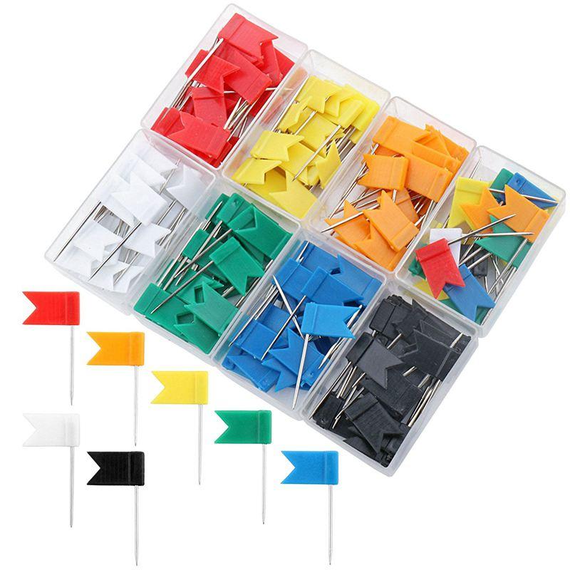 400pcs Karte Reissnaegel Push Pins 3//5 Fuss glaenzende Kunststoffkugel Kopf HT