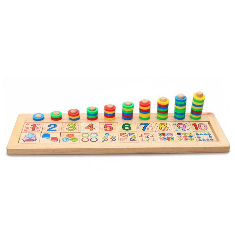 5X(materiaux montessori en bois pour les enfants apprendre a compter les nom T3)