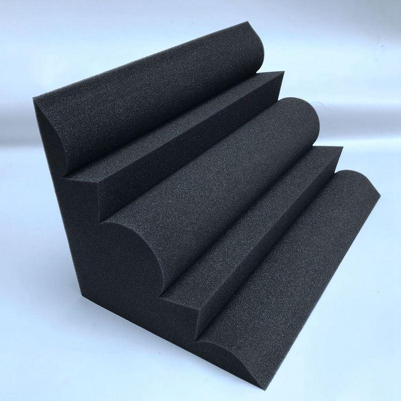 4 pcs coin de bass trap panneau acoustique mousse d 39 absorption acoustique de r8 ebay. Black Bedroom Furniture Sets. Home Design Ideas