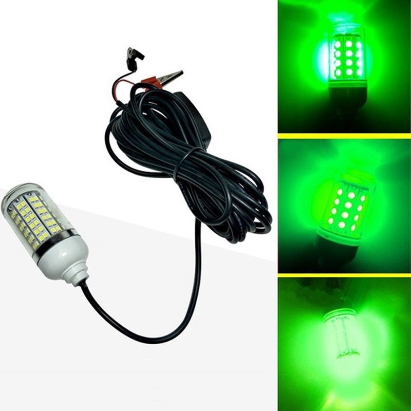 with 5m Wire 12V Green LED Underwater Submersible Night Fishing Light