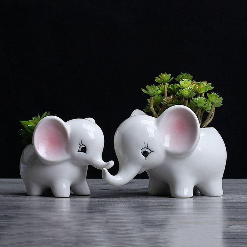3X-Form-der-Tiere-Blumentopf-aus-Keramik-Elefant-Sukkulenten-Pflanzer-Kaktu-V2G8 Indexbild 4