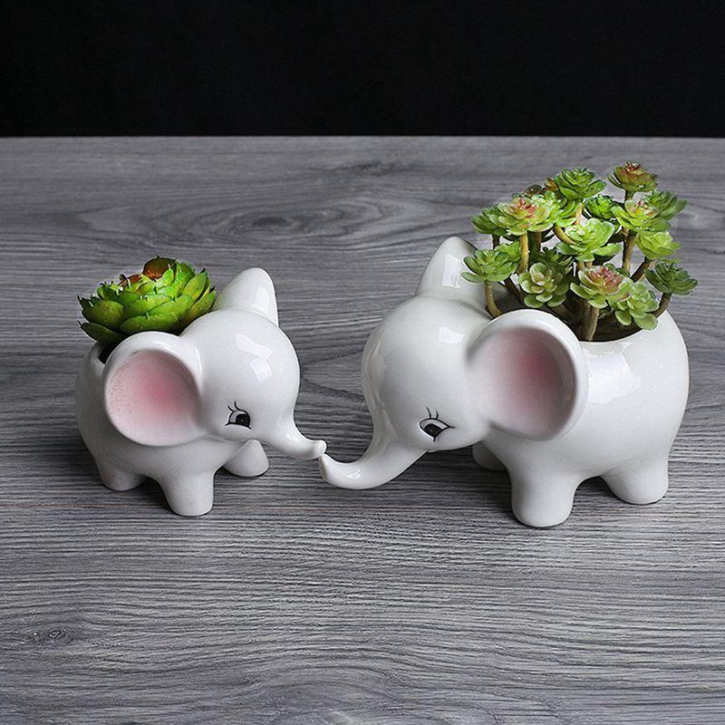 3X-Form-der-Tiere-Blumentopf-aus-Keramik-Elefant-Sukkulenten-Pflanzer-Kaktu-V2G8 Indexbild 6