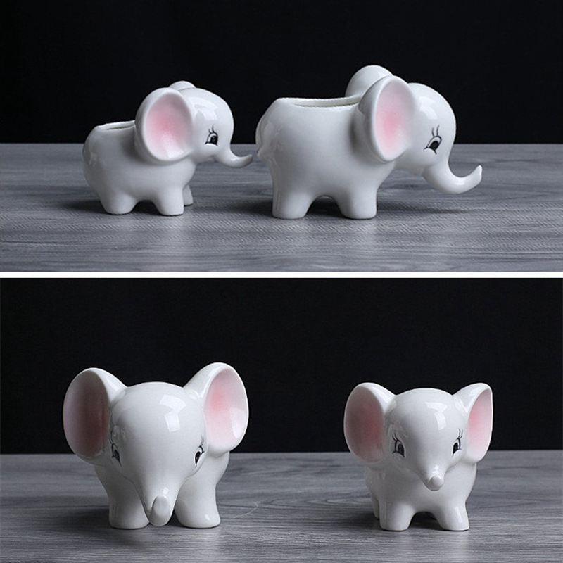 3X-Form-der-Tiere-Blumentopf-aus-Keramik-Elefant-Sukkulenten-Pflanzer-Kaktu-V2G8 Indexbild 9