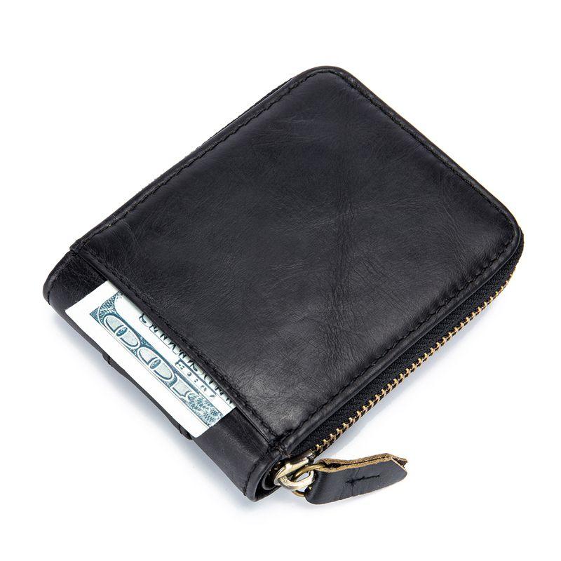 BULLCAPTAIN-Cartera-de-los-hombres-del-cuero-genuino-RFID-que-bloquea-Bifol-L3J3 miniatura 7